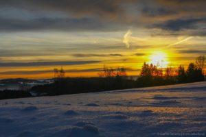 Zima nad Horní Planou