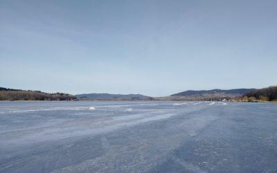 Stav ledu v Horní Plané k 19.2.2021